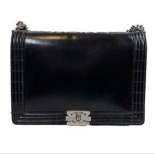 CHANEL XL Reverso Boy Bag Flap Authentic